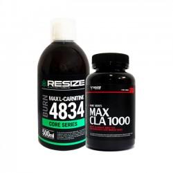 Max L-Carnitine 4834 + Max CLA - 25 doses + 120 cápsulas