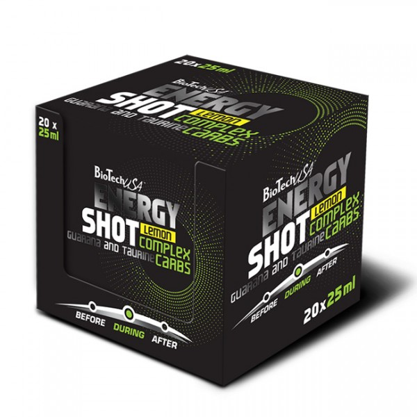 Energy Shot - 9 x 25ml + 1 Grátis BioTech 3