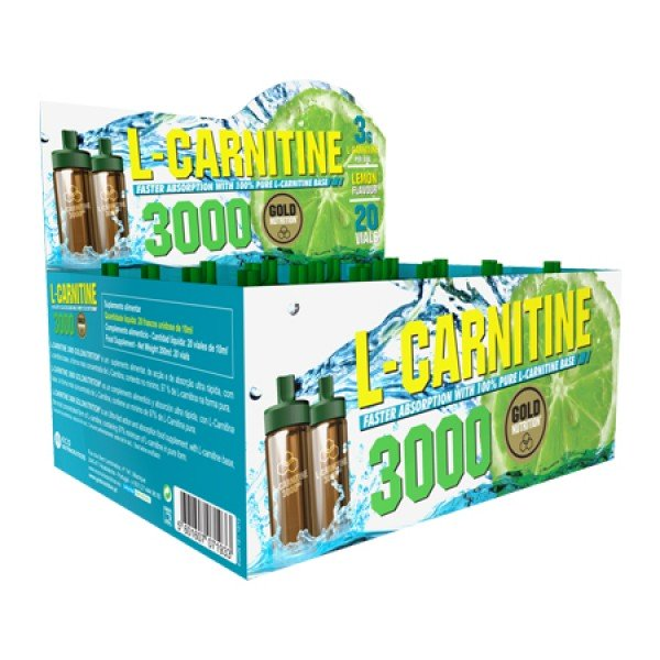 L-Carnitine 3000 Gold Nutrition - Limão